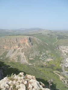 The Valley Road from Nazareth, past Mount Arbel, to Magdala, to the Sea of Galilee.