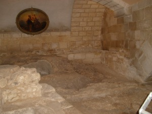 Ruins in Nazareth believed to be the Holy Family's home.