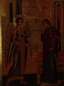 Icon of the Annunciation.