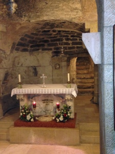 The site believed to be the spot of the 2nd visitation to young Mary (in her house).