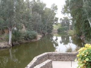 Jordan River in Galilee.  Photo by JMN, 9 March 2014.