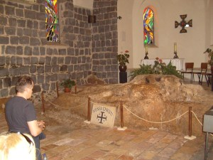 The Church of the Primacy of Peter (where the Risen Christ fed his disciples on the beach on the Sea of Galilee).