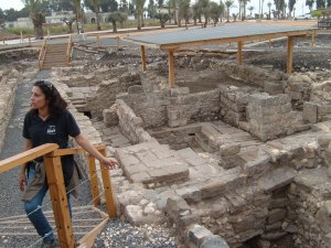 First Century ruins of houses & shops found near synagogue in Magdala.