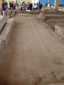 Remains of Mosaic found in First Century synagogue of Magdala.