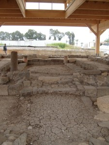 First Century Synagogue in Magdala, Galilee; discovered in 2009.