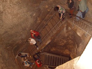 Vertical Shaft inside the walled city leading down, down, down 120 feet to a water spring 215 feet through a tunnel -- an ancient way to get fresh water!