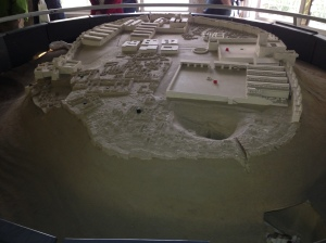 A model of the walled city of Megiddo.
