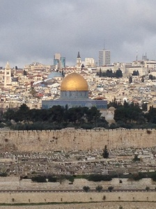 View of the Old Jerusalem from the Mount of Olives.