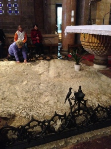 The Rock of Agony in the Church of All Nations, Gethsemane.